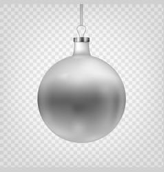 stock christmas ball isolated vector image