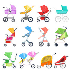 stroller childish buggy or baby-stroller vector image