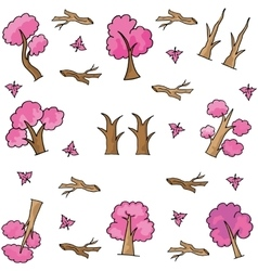 Style tree ornament on doodles vector