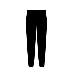 suit trousers symbol simple silhouette icon on vector image