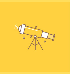 telescope astronomy space view zoom flat line vector image