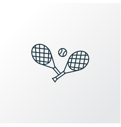 tennis icon line symbol premium quality isolated vector image