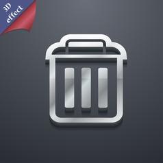 trash icon symbol 3D style Trendy modern design vector image vector image