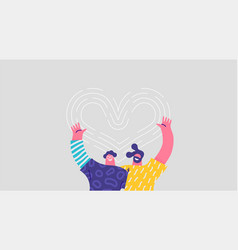 two man friends hug together love concept isolated vector image
