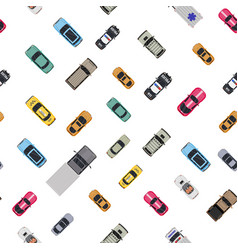 various vehicles set seamless pattern vector image