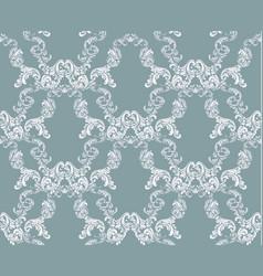 Vintage damask floral pattern imperial style vector