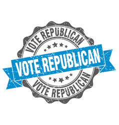 Vote republican stamp sign seal vector