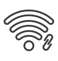 wifi hotspot line icon web and mobile vector image