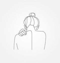 woman frame shape form silhouette vector image