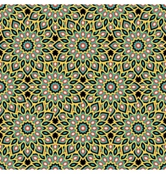 Arabic ornament with abstract flowers vector image