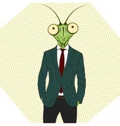 Cartoon character Mantis vector image vector image