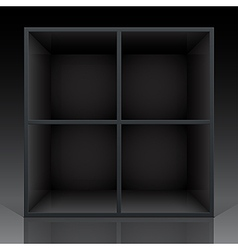 shelf black vector image