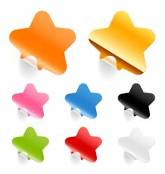 stars stickers vector image