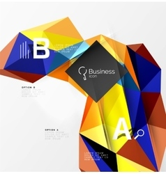 3d polygonal object triangles abstract background vector