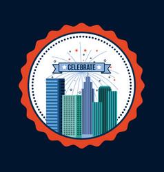 4th of july emblem image vector image