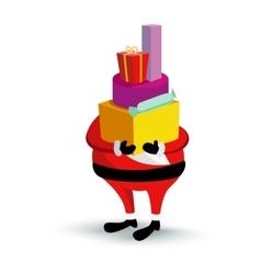 Christmas Santa Claus character with gift box vector image vector image