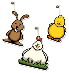 easter hangtags vector image