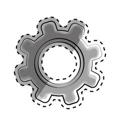 Isolated gear draw vector image