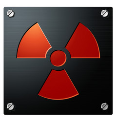 radioactivity sign vector image vector image