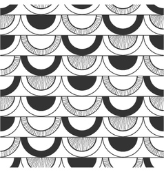 Seamless black and white decorative pattern vector image