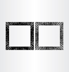 Abstract empty frame black background vector