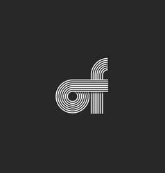 Combination two letter of logo monogram linked o vector