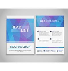 Design flyers and brochures polygonal vector image