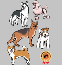 Dogs collection part 3 vector