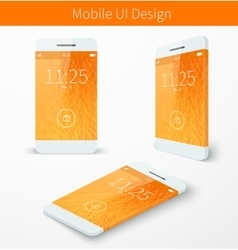 Mobile user application interface concept vector image vector image