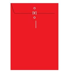 Red sealed envelope vector image vector image