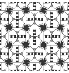 Seamless black and white decorative pattern vector image vector image