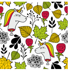 seamless sad pattern in autumn colors vector image