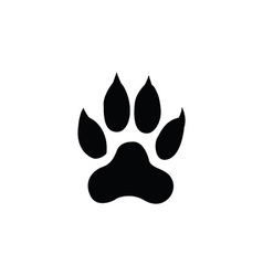 tiger footprint vector image