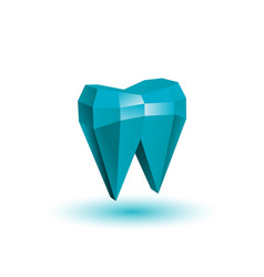 polygonal abstract tooth vector image vector image