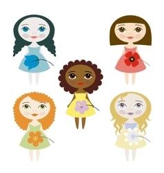 Pretty girls vector image