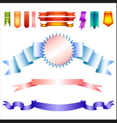 realistic banners collection vector image vector image