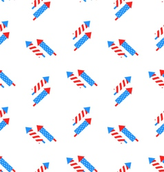 Seamless Texture Rocket for Independence Day vector image vector image