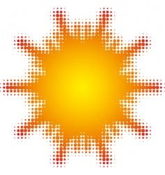 sun vector image vector image