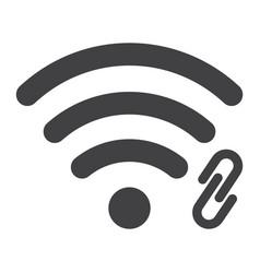 wifi hotspot glyph icon web and mobile vector image vector image
