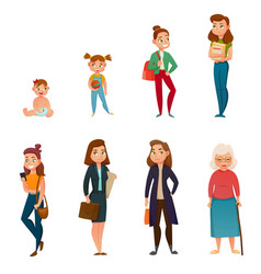 woman life cycle vector image