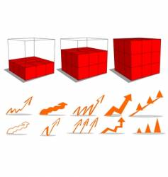 3d graphs and business vector image