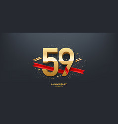 59th year anniversary background vector