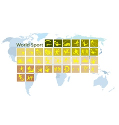 A Mega Set of 35 World Sport Icons vector
