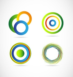 Abstract circle logo set vector image