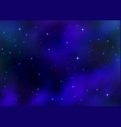 Abstract cosmic blue background colorful nebula vector