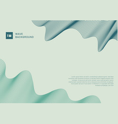 abstract modern background blue and green wave vector image
