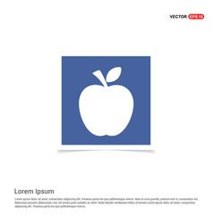 Apple fruit icon - blue photo frame vector