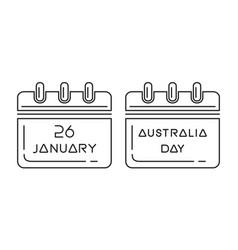 australia day calendar vector image