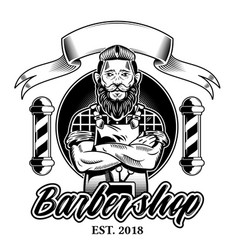 Barbershop logo vector