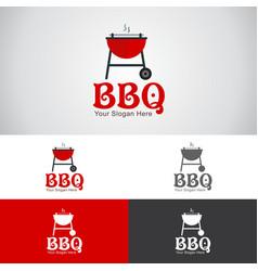 Bbq grill logo vector